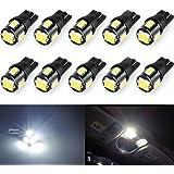 Wincar Super Bright T10 LED Bulbs 6000K White 194 168 175 2825 W5W T10 Wedge LED Light Bulbs 6smd 5630 Chip for Car Interior