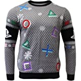 PlayStation Ugly Christmas Sweater Symbols Grey for Men Women Boys and Girls