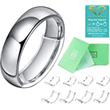 Invisible Ring Size Adjuster for Loose Rings Ring Adjuster Fit Wide Rings with Jewelry Polishing Cloth