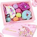 Unicorn Bath Bomb Gift Set - Include Unicorn Lips Sea Shell Macarons Handmade All Natural Essential Oil and Organic Bath Bomb