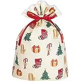 インディゴ クリスマス ラッピング袋 グリーティングバッグLL ハッピークリスマス XG497