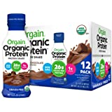 Orgain Organic 26g Grass Fed Whey Protein Shake, Creamy Chocolate - Meal Replacement, Ready to Drink, Low Net Carbs, No Sugar