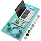 YSAGi Multifunctional Office Desk Pad, Ultra Thin Waterproof PU Leather Mouse Pad, Dual Use Desk Writing Mat for Office/Home