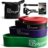 Polygon Pull Up Assist Bands, Resistance Exercise Band, Heavy Duty Assistance Loop Mobility Band, for Body Stretching, Muscle