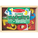Melissa & Doug 449 - 37 Wooden Number Magnets in a Box