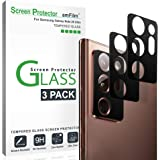 amFilm Galaxy Note 20 Ultra Back Camera Protector (3 Pack), Tempered Glass Film Screen Protector for Rear Camera Lens of Sams