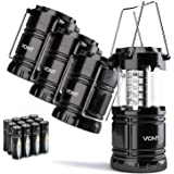 Vont 4 Pack LED Camping Lantern, LED Lanterns, Suitable Survival Kits for Hurricane, Emergency Light for Storm, Outages, Outd