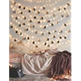 Photo Clip String Lights 17Ft - 50 LED Fairy String Lights with 50 Clear Clips for Hanging Pictures, Photo String Lights with