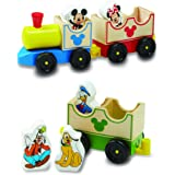 Melissa & Doug 5799 Disney Baby Mickey Mouse and Friends All Aboard Wooden Train Toy With 3 Train Cars and 5 Characters