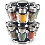 Cole & Mason H121808U 16 Jar Herb & Spice Carousel, Medium, Silver