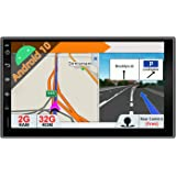 JOYX Android 10 Double Din Car Stereo Navigation Multimedia Radio - Free Back up Camera - 2G+32G - 7 Inch HD 1024*600 - Suppo