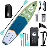 """DAMA Inflatable Stand Up Paddle Board 10'6""""/11'/12'2"""", Inflatable Yoga Board, Dry Bags, Camera Seat, Floating Paddle, Double"""