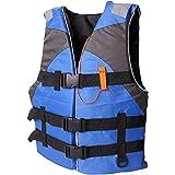 aternee Life Jacket Watersport Ski Buoyancy Aid Boating Safety Life Vest, Adjustable Safety Swimming Float Jacket Buoyancy Ai