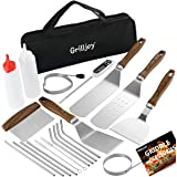 grilljoy Heavy Duty Griddle Accessories Kit - 21PCS Exclusive Griddle Tools Extra Thick Spatulas Set - Flat Top Grill Griddle