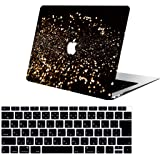 AOGGY 新しい MacBook Air 13インチケース 2018年発売モデル:タッチID付きA1932(Retinaディスプレイ) ,キラキラ蛍光超薄型カラーパターン耐久性のあるマットラバーコーティングされたプラスチック製ハードケース - 星空RS450