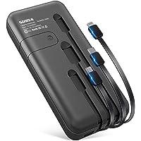 【最新版 26800mAh & ケーブル内蔵】 急速充電 モバイルバッテリー 大容量 (Lightning+Micro…
