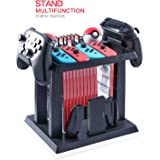 Storage Rack for Nintendo Switch Console Bundle, Storage Station Holder for Nintendo Switch Accessories and 2 Poke Ball Plus