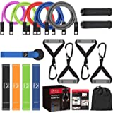 FITINDEX Resistance Bands with Door Anchor, Suspension Trainer for Full Body Workouts, Exercise Bands for Home Gym Muscle Bui