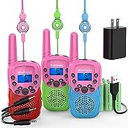 Wishouse Kids Walkie Talkies, 2 Way Radio Long Range, Girls Boys Toys, Birthday New Year Party Gift for Children Toddlers