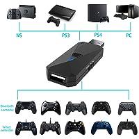 Uniraku 2021最新版 PS5/PS4/Switch/PC用有線と無線コントローラー変換アダプター PS5コント…