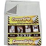 CoverGrip 351208 8oz 3.5' x12' 3.5x12 Safety Drop Cloth, 3.5' x 12', Off-White