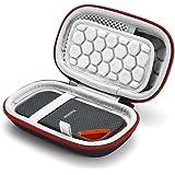Hard Travel Case for SanDisk Extreme PRO 1TB / 2TB/ 250GB / 500GB Extreme Portable SSD, Carrying Storage Bag - Black (Grey Li