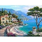 LovetheFamily 数字油絵 数字キット塗り絵 手塗り DIY絵 デジタル油絵 ヴィラグループ 40x50cm ホーム オフィス装飾