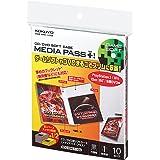 コクヨ CD/DVD用ソフトケース MEDIA PASS+ トール 1枚収容 10枚入 黒 EDC-DML1-10D