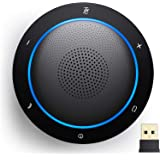 Kaysuda Bluetooth Conference Speakerphone Wireless Microphone and Speaker for Mobile Phone and Computer, USB Office Speakerph