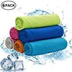 W-ShiG All W-ShiG 6 Pack Cooling Towel,Super Absorbent Cooling Towel for Sports,Workout,Fitness,Gym,Yoga,Pilates, Travel...