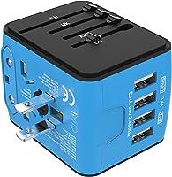 Jollyfit International Universal Travel Adapter 4 USB Charger AC Power Wall Plug US UK AU EU Worldwide 150 Countries...