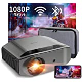 "1080P Projector - Artlii Energon 2 Full HD WiFi Bluetooth Projector Support 4K, 7000L 300"" Display, Compatible with HDMI, iPh"
