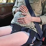 マタニティーシートベルト シートベルト補助具 妊娠用 妊婦用 車シートベルト お母さんと赤ちゃんをしっかりガード すべり止めつき 新型素材 取り付け簡単(ブラック)