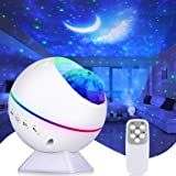 Perkisboby Portable Star Projector, Night Light Projector with Remote Control, LED Nebula Cloud, Moon, Super Silent, 360° Mag