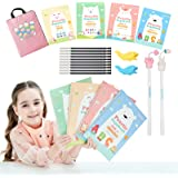 Magic Practice Copybook for Kids - The Print Handwiriting Workbook-Reusable Writing Practice Book for Preschools(4 books with