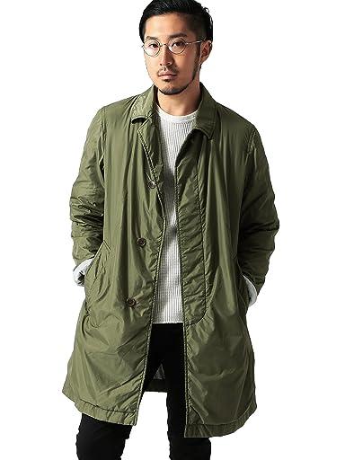 Nylon Balmacaan Coat 11-19-0221-803: Green