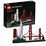 LEGO Architecture Skyline Collection 21043 San Francisco Building Kit Includes Alcatraz Model, Golden Gate Bridge and Other S
