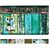 "Welcome Doormat Front Door Mat, Rubber Back Non Slip Door Mat Entrance Rug Shoe Scraper 17"" x 29"", Low-Profile Printing Mats"