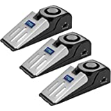 ZZRUI 3 Pack Upgraded Door Stopper Security Alarm,Portable 120 Loud Entrance Alert Door Stop Alarm for Travel Home Apartment