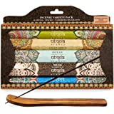 Karma Scents Premium Incense Sticks, Nag Champa, Musk, Ocean, Asian Spice and Lemongrass, Variety Gift Pack 85 Sticks, Includ