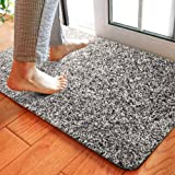 Delxo 24 x 36 Inch Magic Doormat Super Absorbs Mud Doormat No Odor Durable Anti-Slip Rubber Back Low-Profile Entrance Door Ma