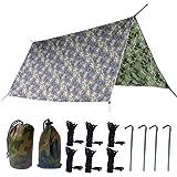 TRIWONDER Waterproof Hammock Rain Fly Tent Tarp Footprint Camping Shelter Ground Cloth Sunshade Mat for Outdoor Hiking Beach