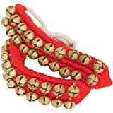 DOBANI Ankle Bells 2-Rows on Red Pad