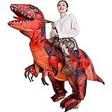 YOYO ハロウィン 着ぐるみ 恐竜ライダー 電動エアー膨張式 業務用ハイグレードタイプ 内蔵ファン 怪獣コスチューム 蒸れない快適な着心地 ティラノサウルス Tレックス ラプトル ジュラシック ワールド コスプレ 衣装 軽量・コンパクト収納 怪獣