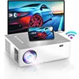 Bomaker 2021 Upgraded Projector, Native 1920 x1080p , 4K Supported, 6D ±50° X/Y Keystone and ±50% Zoom Out, 300 ANSI Lumen, F
