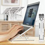 Laptop Stand Adjustable for Desk, Portable iPad Stand Computer Stand, Aluminum Laptop Riser Holder, Foldable Laptop Cooling S