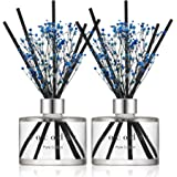 Cocod'or Preserved Real Flower Reed Diffuser, Pure Cotton, Home Decor & Office, 2 Pack, Birthday, Wedding Gift