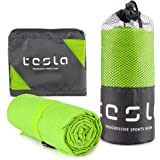 TSLA Microfiber Cooling Active Sports Towel, Traveling Running Workout Hiking Camping Beach Backpacking Gym and Swimming Quic