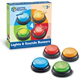 Learning Resources Lights and Sounds Answer Buzzers, Game Show and Classroom Buzzers, Set of 4, Ages 3+
