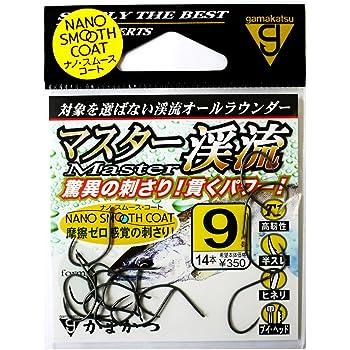 がまかつ(Gamakatsu) バラ針 T1 マスター渓流(ナノスムースコート) 9号.